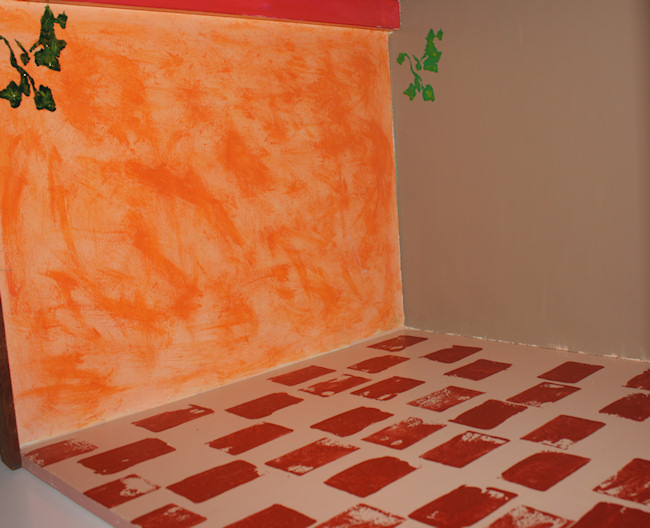 Painting the Blythe kitchen