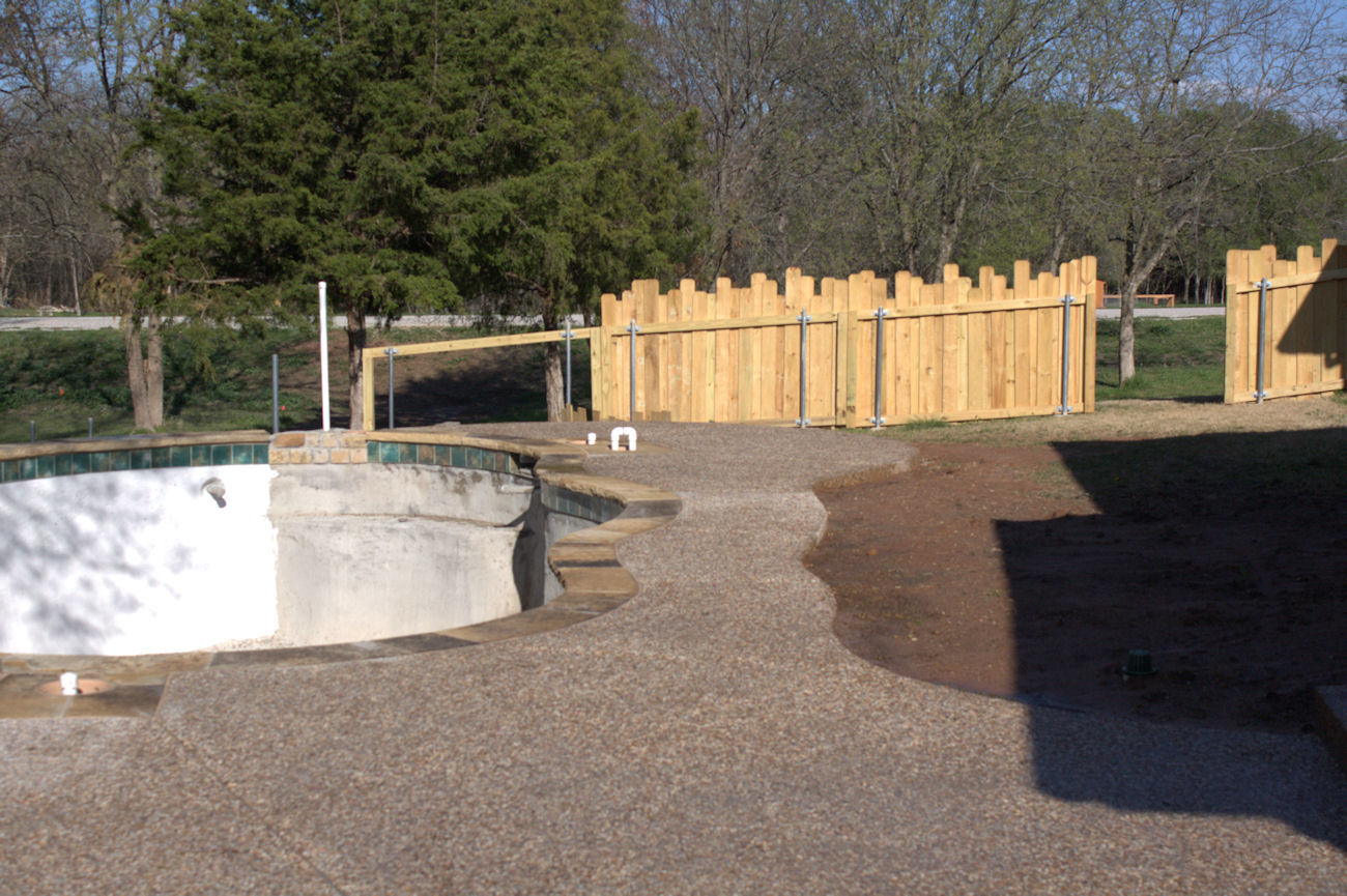 fence going up very slowly